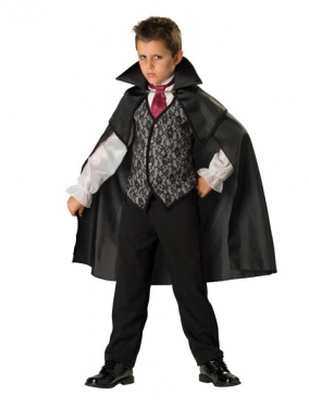Victorian Kids Costumes & Shoes- Girls, Boys, Baby, Toddler Boys Vampire Count Costume $47.99 AT vintagedancer.com