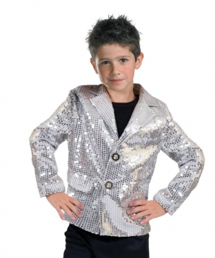 Vintage Style Children's Clothing: Girls, Boys, Baby, Toddler Unisex Silver Sequin Jacket $68.99 AT vintagedancer.com