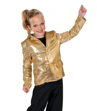 Vintage Style Children's Clothing: Girls, Boys, Baby, Toddler Unisex Gold Disco Jacket $68.99 AT vintagedancer.com