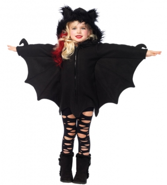 Vintage Style Children's Clothing: Girls, Boys, Baby, Toddler Girls Cozy Bat Costume $42.99 AT vintagedancer.com