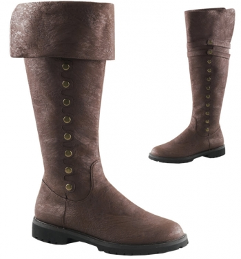 Steampunk Boots and Shoes for Men Captain Boots $101.97 AT vintagedancer.com