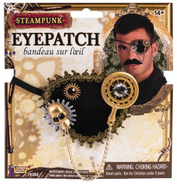 Men's Steampunk Goggles, Guns, Gadgets & Watches Adult Steampunk Eyepatch $11.99 AT vintagedancer.com