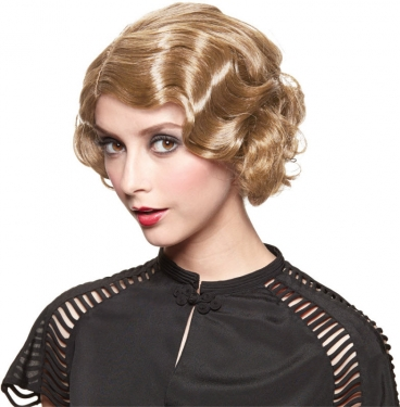 Vintage Hair Accessories: Combs, Headbands, Flowers, Scarf, Wigs Golden Gatsby Girl Wig $19.49 AT vintagedancer.com