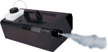 1000 Watt Fog Machine Our most powerful fog machine. Is loved by professionals who need a fogger that will provide a large amount of fog. Includes remote, no timer. Requires fog fluid not included. 3500 cubic feet per minute. Note: Standard 110v plug Confused about fog machines? Want to know more about how they work or the types of machines available? Here's a resource that takes the mystery out of choosing the right fog machine for your application.