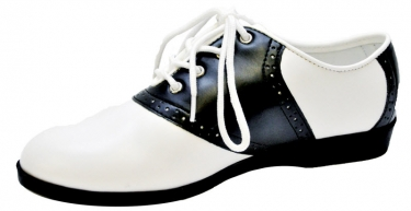 1950s Style Shoes Black and White Saddle Shoes $54.99 AT vintagedancer.com