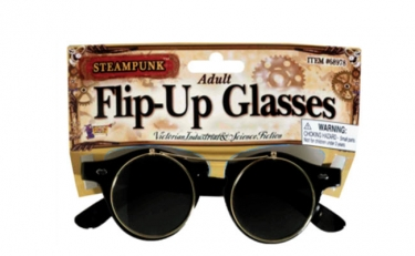 Men's Steampunk Goggles, Guns, Gadgets & Watches Steampunk Glasses $15.99 AT vintagedancer.com