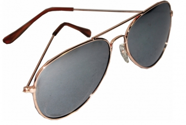 Men's Steampunk Goggles, Guns, Gadgets & Watches Aviator Mirror Glasses $6.19 AT vintagedancer.com