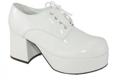 Men's Vintage Style Clothing White Platform Shoes $65.97 AT vintagedancer.com