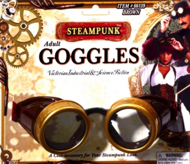 Men's Steampunk Goggles, Guns, Gadgets & Watches Adult Steampunk Goggles $15.99 AT vintagedancer.com