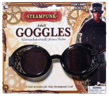 Men's Steampunk Goggles, Guns, Gadgets & Watches Adult Steampunk Goggles $13.99 AT vintagedancer.com