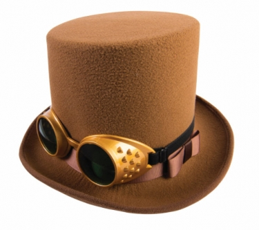 Men's Steampunk Goggles, Guns, Gadgets & Watches Steampunk Hat With Goggles $19.99 AT vintagedancer.com