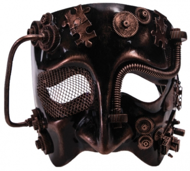 1900s, 1910s, WW1, Titanic Costumes Mens Steampunk Bronze Mask $28.99 AT vintagedancer.com