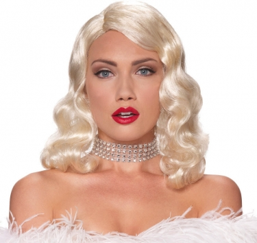 Vintage Hair Accessories: Combs, Headbands, Flowers, Scarf, Wigs Blonde Femme Fatale Wig $24.39 AT vintagedancer.com
