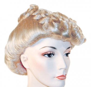 Vintage Hair Accessories: Combs, Headbands, Flowers, Scarf, Wigs 1940s Pompadour Wig $51.99 AT vintagedancer.com