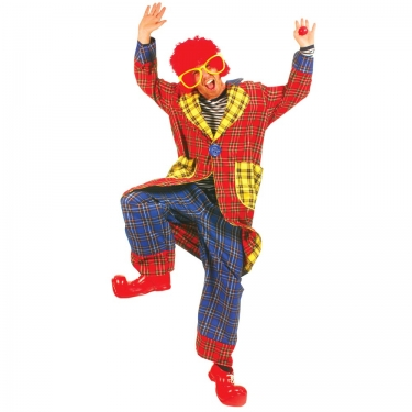 Adult Plaid Pickles Clown Costume