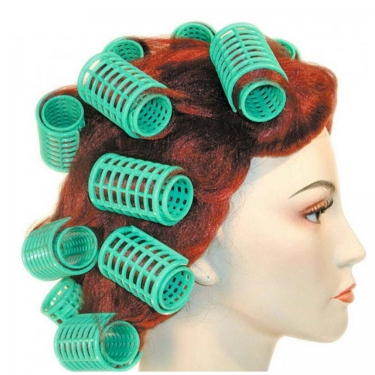 Vintage Hair Accessories: Combs, Headbands, Flowers, Scarf, Wigs 1960s Curler Wig $32.99 AT vintagedancer.com