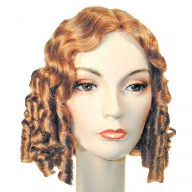 1840's Pioneer Wig Just like the Little Women once wore. Also great for a medieval maid. Includes: Synthetic fiber wig with a skin part as well to give it that natural look. Available Size: One size fits most Adults Available Color: Auburn #130 Black Dark Auburn #33 Light Brown #10 Light Chestnut Brown #8 Medium Brown Red #30 Medium Chestnut Brown #6 Platinum Blonde #613 Strawberry Blonde #27 Please note: We cannot accept wigs for return unless they are in their original packaging, unopened, and sealed.