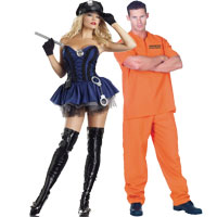 Cop and Prisoner Couples Costumes  sc 1 st  Halloween Costumes - Halloween Express & Couples Halloween Costume Ideas for Halloween 2017