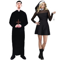 Priest and Nun Couples Costumes  sc 1 st  Halloween Costumes - Halloween Express & Couples Halloween Costume Ideas for Halloween 2017