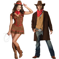 Cowgirl and Outlaw Couples Costumes  sc 1 st  Halloween Costumes - Halloween Express & Couples Halloween Costume Ideas for Halloween 2017